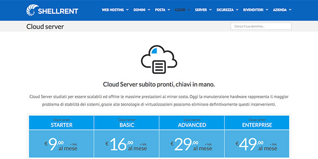 Cloud Server di Shellrent