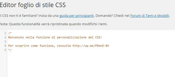 Css personalizzato in JetPack