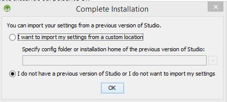 Installation and configuration of Android Studio - Installation and configuration of Android Studio - Installation and configuration of Android Studio - complete the installation of Android Studio