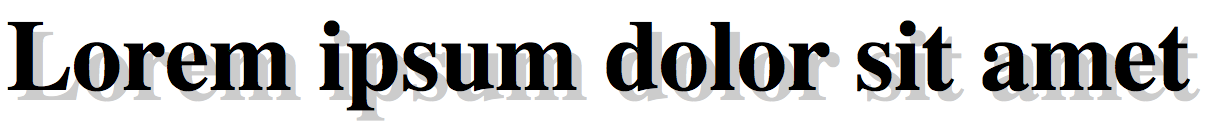 Ombra sul testo con CSS3