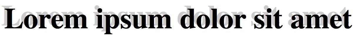 Ombra sul testo con CSS3 con valori posizionali negativi