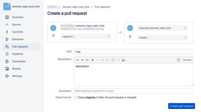 form pull request repository