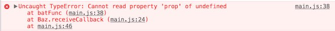 Messaggio di errore Cannot read property 'prop' of undefined