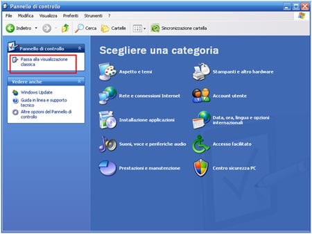 Il pannello di controllo guida windows xp professional for Software gratuito per il layout del garage