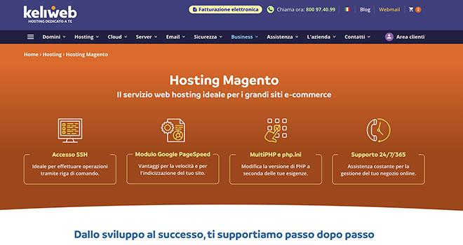 Keliweb offre hosting ottimizzato Magento