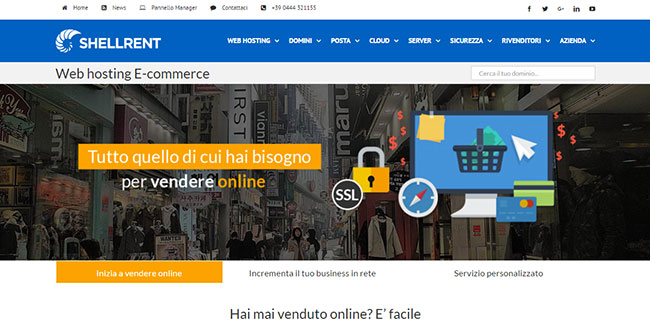 Shellrent: piani hosting per l'ecommerce