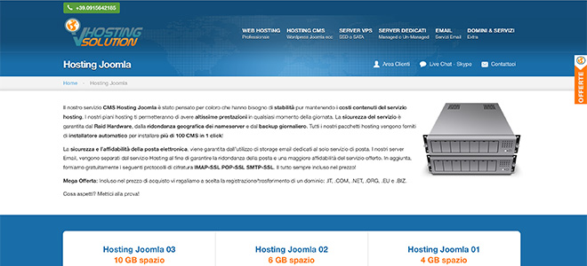 Hosting Joomla di VHosting Solution