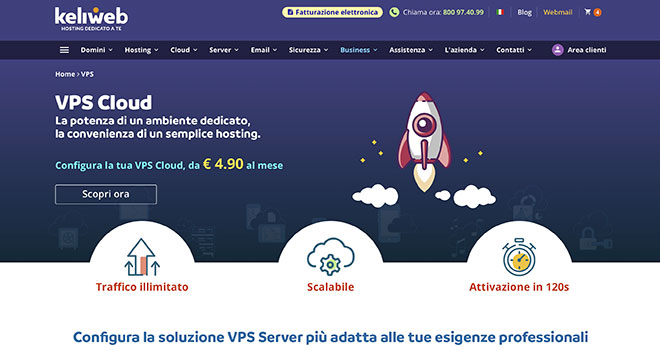 Keliweb VPS Basic e SSD