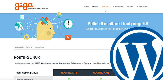 Hosting per CMS by Giga.it