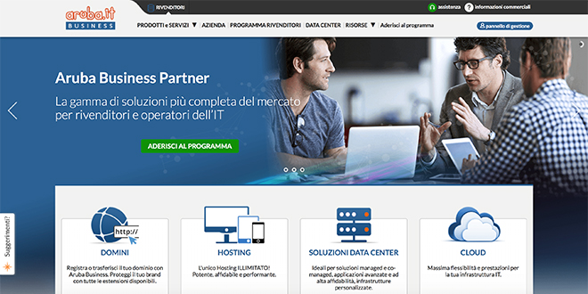Aruba Business - Hosting Reseller
