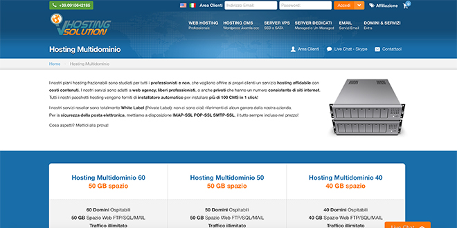 VHosting Solution Hosting Multidominio