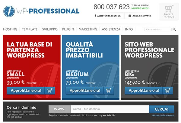 HomePage del sito WP-Professional.it